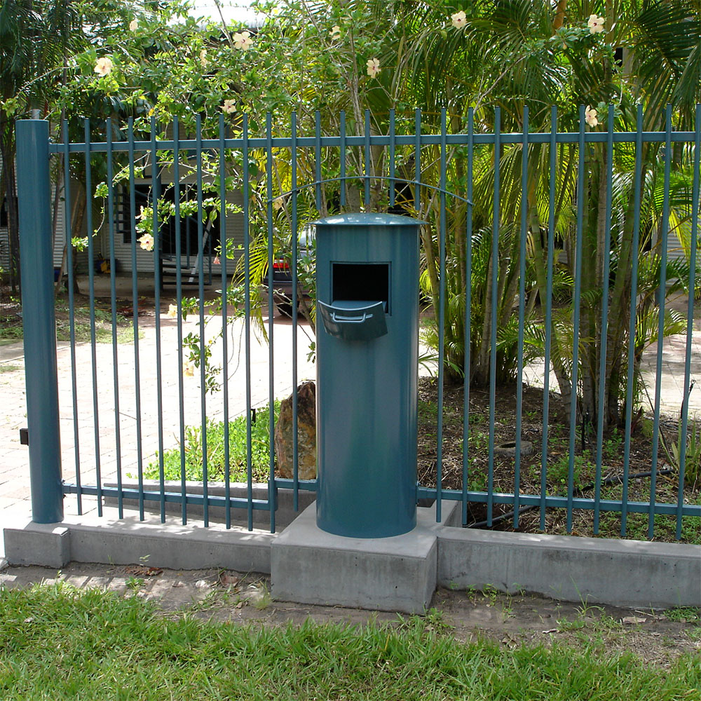 custom letter box, fence and gate